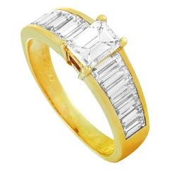 Van Cleef & Arpels Vintage 2.00 Carat Diamond Yellow Gold Ring