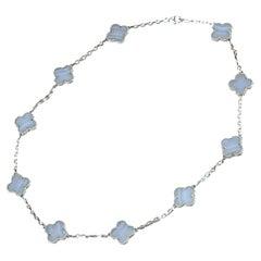 Van Cleef & Arpels Vintage Alhambra 10 Motifs Chalcedony Necklace