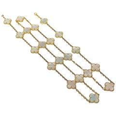 Van Cleef & Arpels Vintage Alhambra 20 Motifs Mother of Pearl Long Necklace