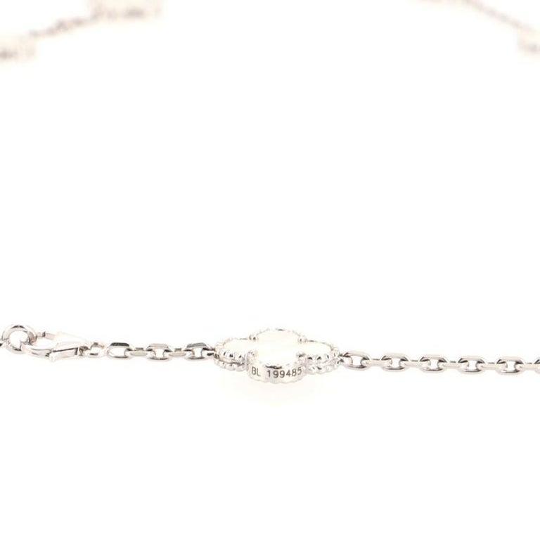 Van Cleef & Arpels Vintage Alhambra 20 Motifs Necklace 18K White Gold 1
