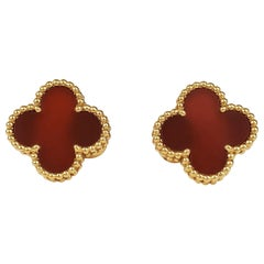 Van Cleef & Arpels 'Vintage Alhambra' Carnelian Earrings