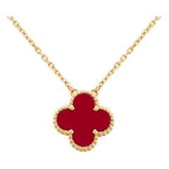 Van Cleef & Arpels Vintage Alhambra Carnelian Pendant