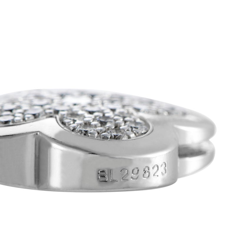 Van Cleef & Arpels Vintage Alhambra Diamond Pavé 14 Motif White Gold Necklace For Sale 2
