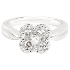 Van Cleef & Arpels Vintage Alhambra Diamond Ring in 18K White Gold '0.40 CTW'