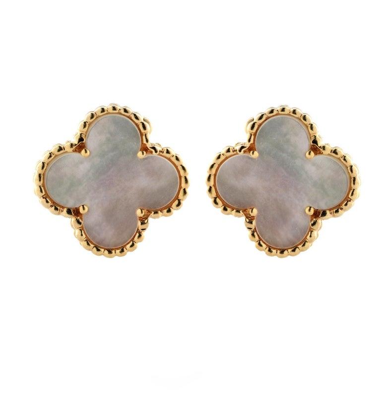 Modern Van Cleef & Arpels Vintage Alhambra Earrings