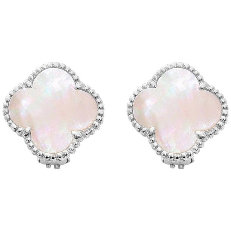 Van Cleef & Arpels Vintage Alhambra Earrings For Sale