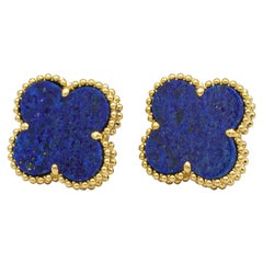 Van Cleef & Arpels Vintage Alhambra Lapis Lazuli Earrings