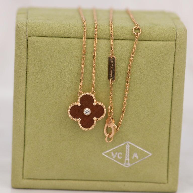 Women's or Men's Van Cleef & Arpels Vintage Alhambra Limited Edition Bullseye Pendant Necklace For Sale