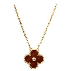 Van Cleef & Arpels Vintage Alhambra Limited Edition Bullseye Pendant Necklace