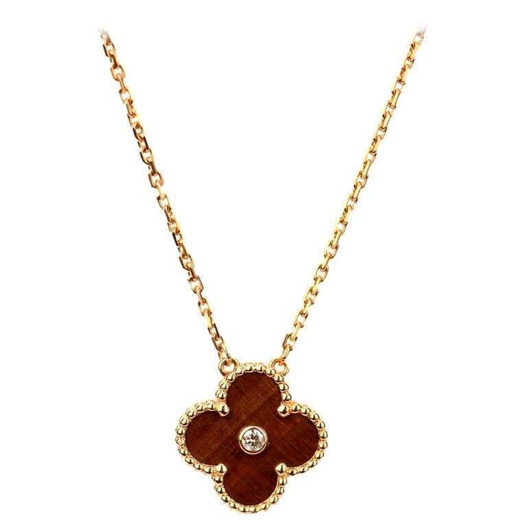 Van Cleef & Arpels Vintage Alhambra Limited Edition Bullseye Pendant Necklace For Sale