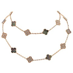 Van Cleef & Arpels Vintage Alhambra Long Necklace, 20 Motifs