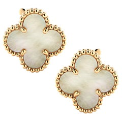 Van Cleef & Arpels Vintage Alhambra Mother of Pearl Earrings