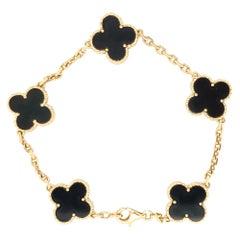 Van Cleef & Arpels Vintage Alhambra Onyx Bracelet