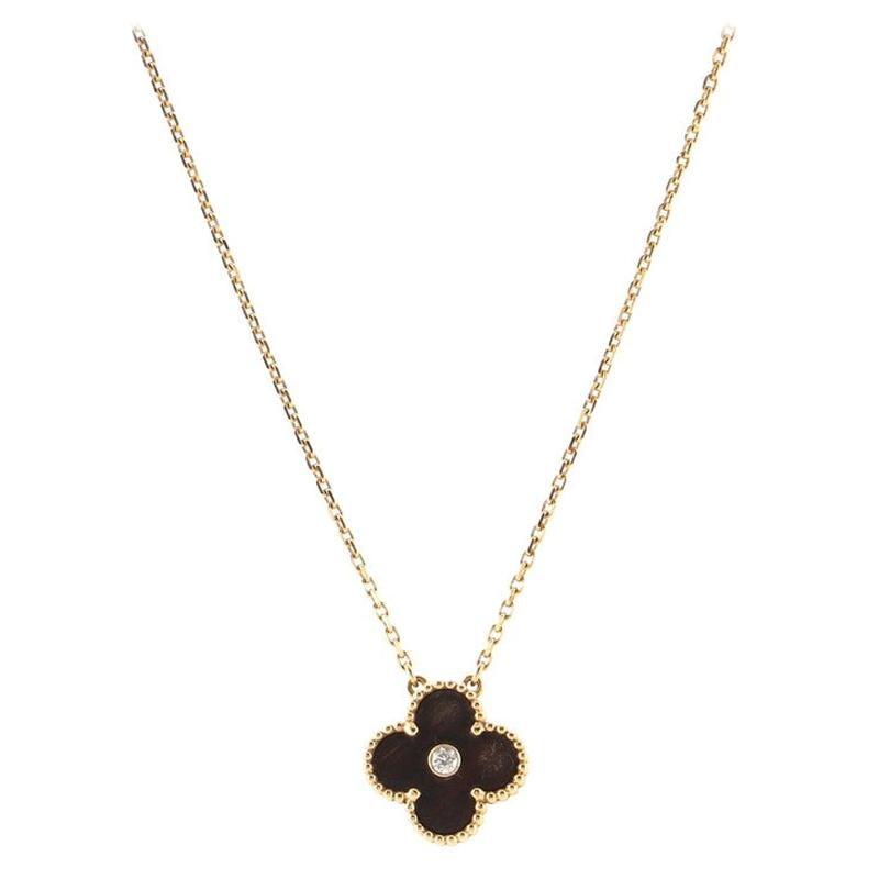 Van Cleef & Arpels Vintage Alhambra Pendant Necklace 18k Rose Gold
