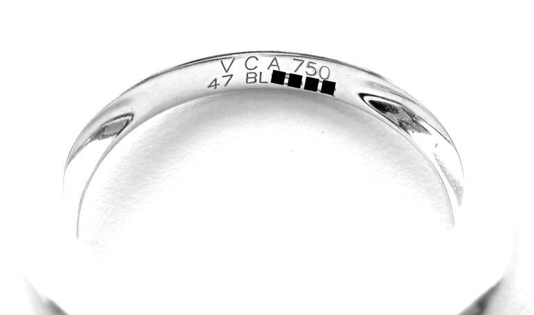 Van Cleef & Arpels Vintage Alhambra Pink Opal Diamond White Gold Ring For Sale 3