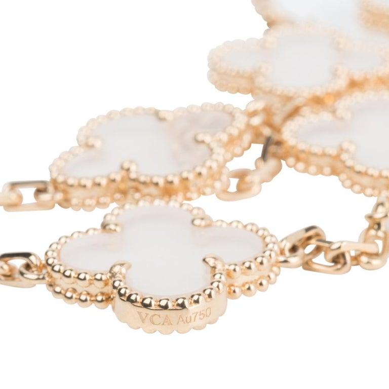 Van Cleef & Arpels Vintage Alhambra Rock Crystal 20 Motif Necklace 6