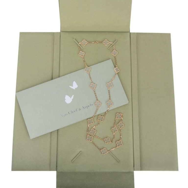 Van Cleef & Arpels Vintage Alhambra Rock Crystal 20 Motif Necklace 7