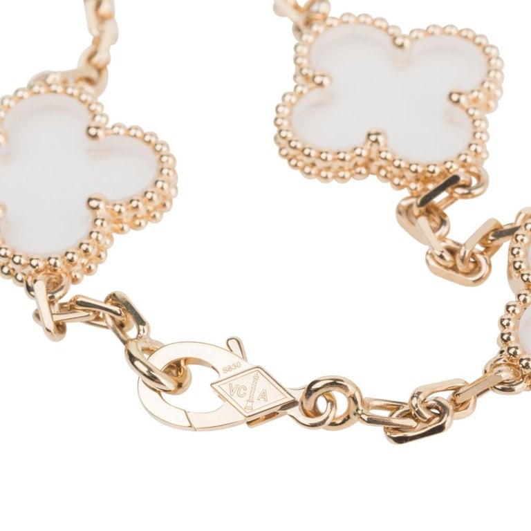Van Cleef & Arpels Vintage Alhambra Rock Crystal 20 Motif Necklace 8