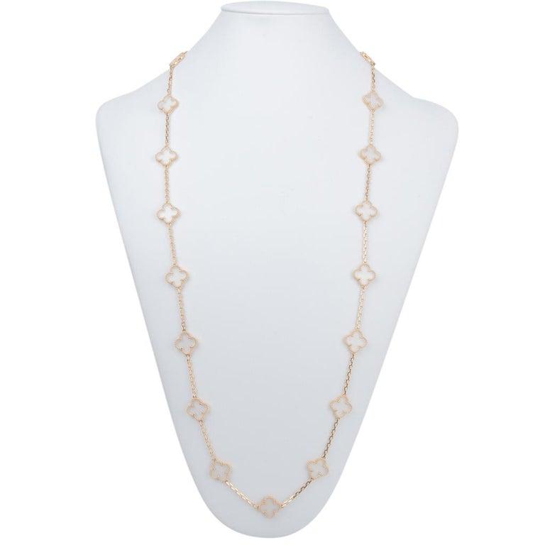 Van Cleef & Arpels Vintage Alhambra Rock Crystal 20 Motif Necklace 3