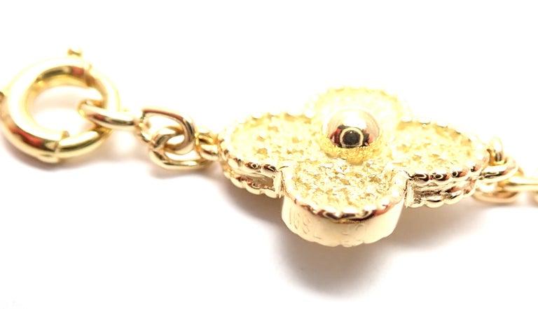 Van Cleef & Arpels Vintage Alhambra Yellow Gold 20 Motif Necklace For Sale 3