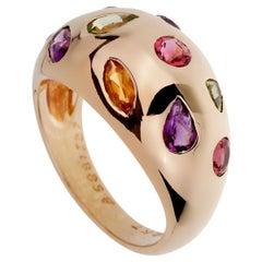 Van Cleef & Arpels Vintage Bombe Gemstone Gold Ring