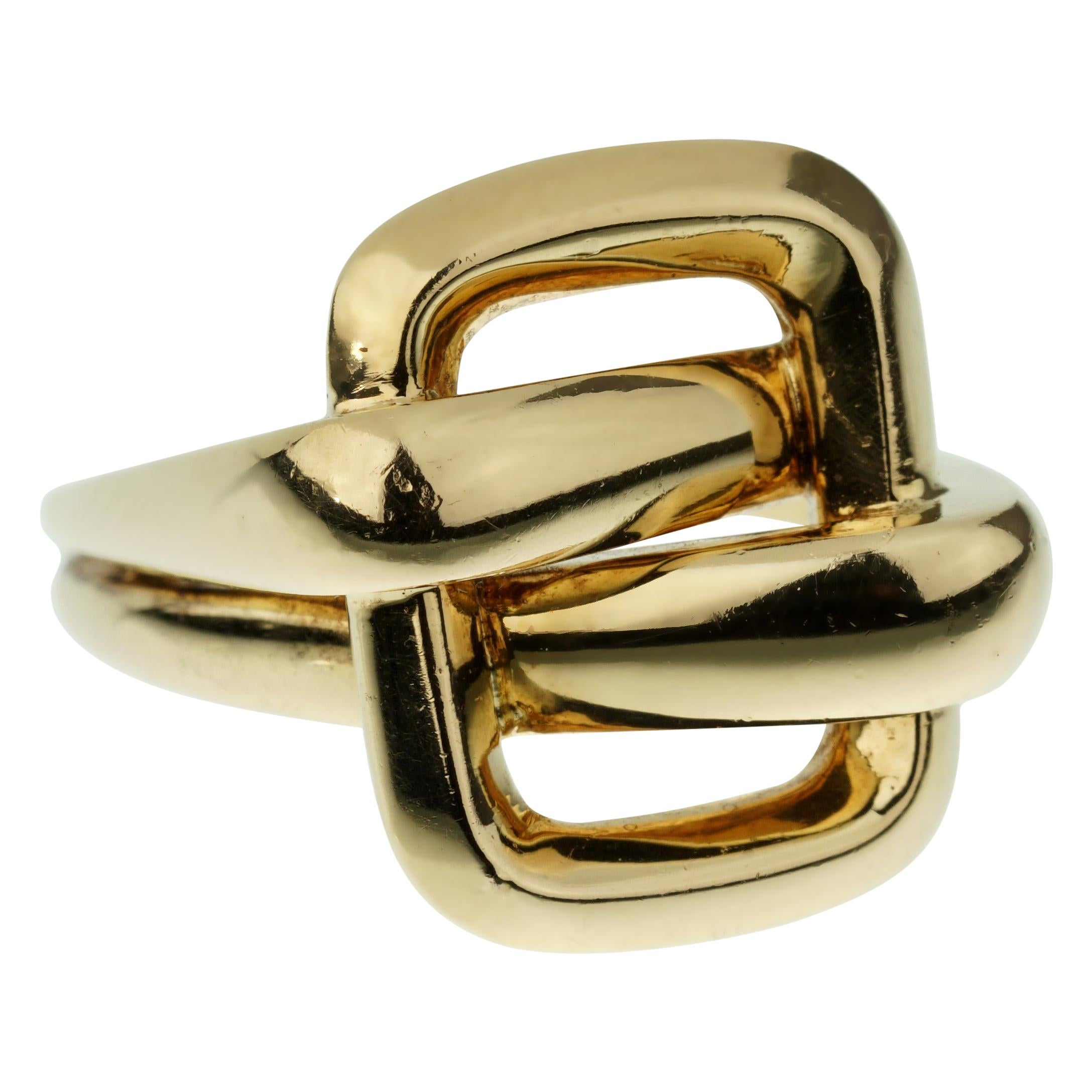 Van Cleef & Arpels Vintage Bypass Yellow Gold Ring