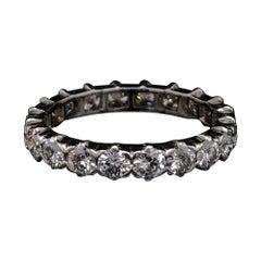 Van Cleef & Arpels Vintage Full Diamond Eternity Ring Platinum, Circa 1970