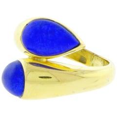 Van Cleef & Arpels Vintage Lapis Lazuli Yellow Gold Ring