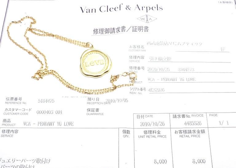 Van Cleef & Arpels Vintage Love Yellow Gold Pendant Necklace 5