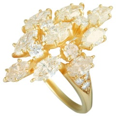 Van Cleef & Arpels Vintage Marquise-Cut Diamond Yellow Gold Cocktail Ring
