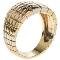 Van Cleef & Arpels Vintage Textured 18k Three Tone Gold Ring Size 54
