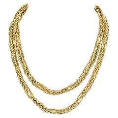 Van Cleef & Arpels Vintage Yellow Gold Chain Necklace
