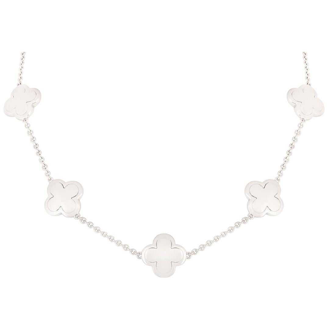 Van Cleef & Arpels White Gold Alhambra Necklace