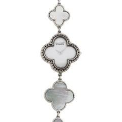 Van Cleef & Arpels White Gold Alhambra Quartz Wristwatch