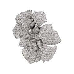Van Cleef & Arpels White Gold and Diamond Brooch