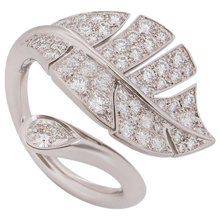 Van Cleef & Arpels White Gold Diamond Virevolte Ring 1.70 Carat