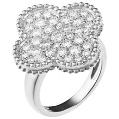 Van Cleef & Arpels White Gold Magic Alhambra Diamond Ring