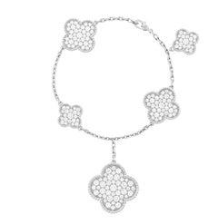 Van Cleef & Arpels White Gold Magic Alhambra Motifs Diamond Bracelet