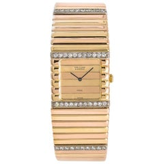 Van Cleef & Arpels Womens Quartz Tricolor 18k 101.7 Gram Gold Watch 2.28 Carat