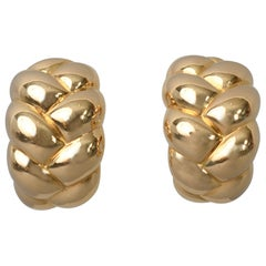 Van Cleef & Arpels Woven Gold Earrings