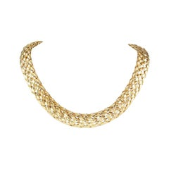 Van Cleef & Arpels Woven Yellow Gold Collar Necklace