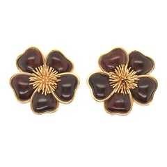 Van Cleef & Arpels Yellow Gold and Wood Nerval Earrings