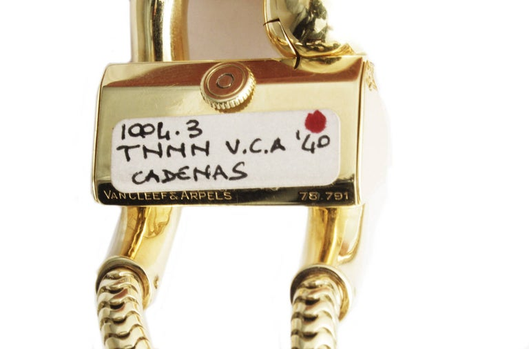 Van Cleef & Arpels Yellow Gold Cadenas Bracelet Watch 1