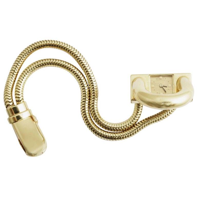 Van Cleef & Arpels Yellow Gold Cadenas Bracelet Watch