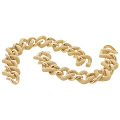 Van Cleef & Arpels Yellow Gold Chunky Chain Necklace