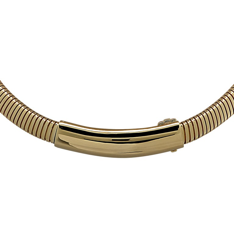 Modern Van Cleef & Arpels Yellow Gold Collar Necklace For Sale