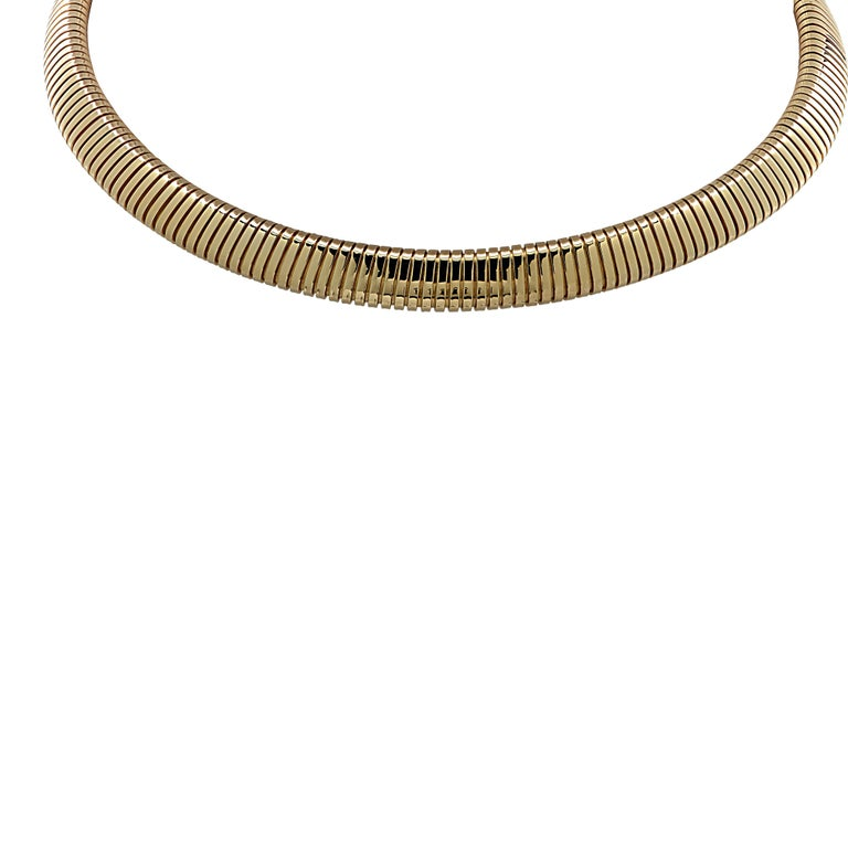 Van Cleef & Arpels Yellow Gold Collar Necklace In Good Condition For Sale In Miami, FL