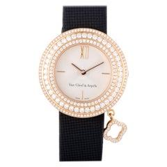 Van Cleef & Arpels Yellow Gold Diamond Charms Wristwatch Ref HH29818