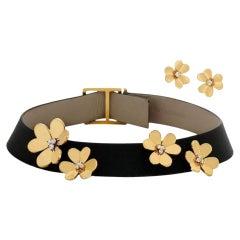 Van Cleef & Arpels Yellow Gold Frivole Diamond Choker Necklace