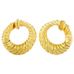 Van Cleef & Arpels Yellow Gold Hoop Clip-On Earrings